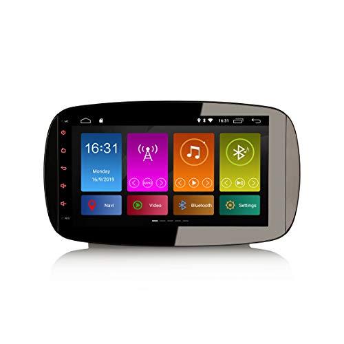 ERISIN 9 Zoll Android 10.0 Autoradio für Mercedes-Benz SMART mit GPS-Navi Unterstützt Bluetooth WiFi 4G DAB + RDS Mirror- Link TPMS Eingebauter CarPlay DSP-Verstärker