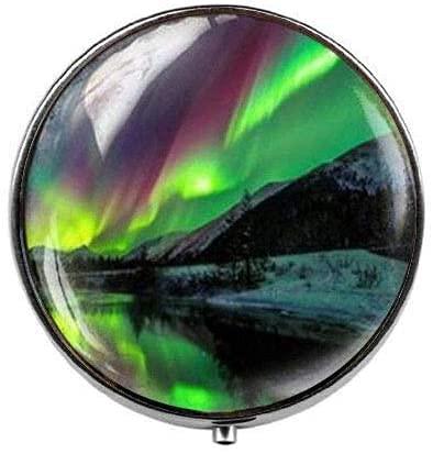 Northern Lights - Pastillero de luces del norte - Caja de pastillas...