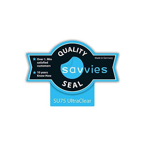 "savvies Protector Pantalla Compatible con Holalei Fitness Tracker 1.3"" (6 Unidades) Pelicula Ultra Transparente 2"