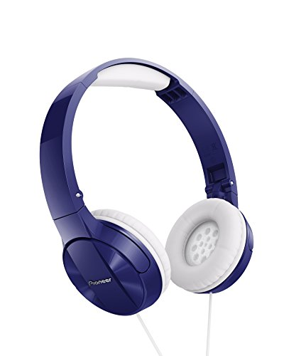 Pioneer MJ503 Cuffie On-Ear con cavo (qualità audio elevata e bilanciata, archetto imbottito, pieghevole e facile da trasportare, certificate per iPod, iPhone e iPad), blu