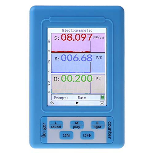 aoixbcuroc - Medidor EMF, medidor electromagnético EMF, dosímetro, con pantalla, detector de radiación