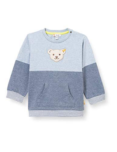 Steiff Jungen Sweatshirt Baby- und Kleinkind T-Shirt-Satz, Navy, 74