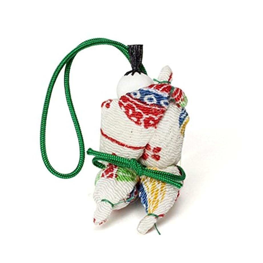 磁気合併種をまく松栄堂 匂い袋 京わらべ 羅漢さん 1個入 (色は選べません?柄か無地をお選びください) (柄)