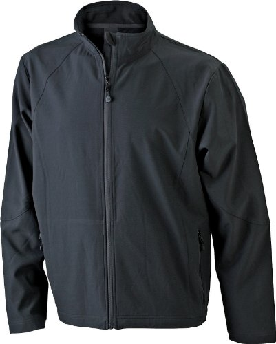 James & Nicholson Herren Jacke Softshelljacke schwarz (black) Medium
