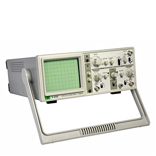 Best Prices! Precise V-252 Dual-pass Dual-track Analog Oscilloscope 20MHz Oscilloscope 6-inch Large ...
