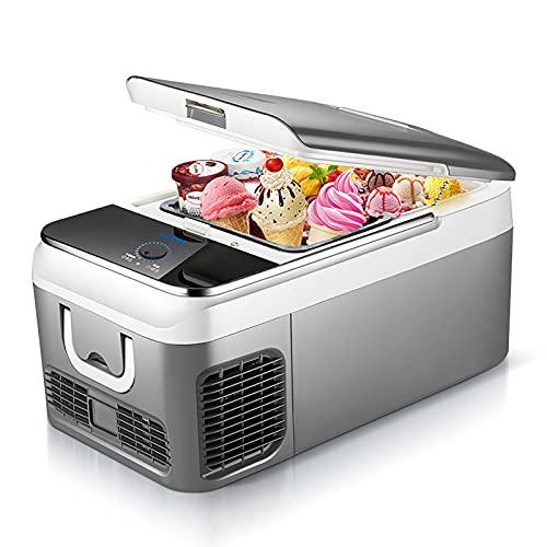 Nevera para Coche 18/26 Litros Mini Nevera 12/24 V Refrigerador para Coche Portátil Nevera para Acampar Congelador Camión Nevera Eléctrica para Acampar, Conducir, Barco -20 ℃ A 10 ℃ / Bajo Consumo