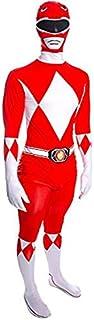 Disfraz para Adulto de Power Ranger Rojo Mighty Morphin, tamaño Grande, Altura Entre 162cm y 178cm