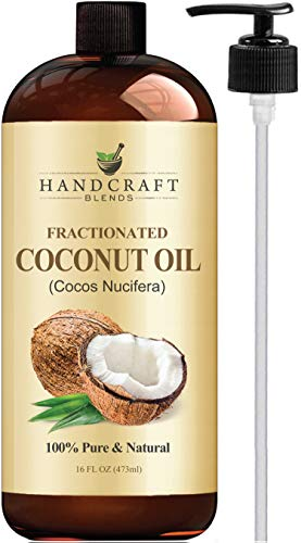 Best fractionated coconut oil - Fractionated Coconut Oil – 100% Pure & Natural Premium Therapeutic Grade - Coconut Carrier Oil for Essential Oils, Massage, Moisturizing for Skin & Hair, Great for Dogs – Huge 16 OZ - Bottle May Vary