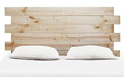 Cabeceros para Camas 90 cm Camas 105 cm Camas 135 cm Camas 150 cm Cabecero de madera de pino Cabezal de madera natural pulido para pintar