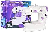 USMEI - Macchina da cucire portatile, mini macchina da cucire elettrica, per la casa e la macchina da cucire portatile e versatile di regolazione a 2 velocità