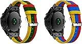 Chainfo Reloj Bandas Compatible con Garmin Fenix 6X Pro/Fenix 6X Sapphire/Fenix 3 / Fenix 5X Plus/5X Sapphire – elección de Color, Longitud y Anchura – Correas de Nailon (Pattern 3+Pattern 4)