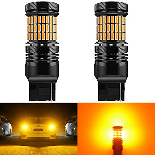 Proyector LED 2x CANBUS T20 7440 W21W WY21W LED Bombilla de giro del automóvil Ningún error Hiper Flash Luz incorporada resistencia naranja amarillo blanco lámpara roja