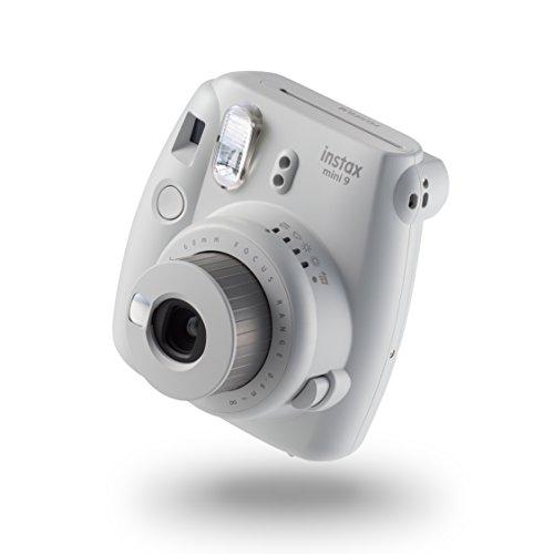 Fujifilm Instax Mini 9 Kamera, smoky weiß mit mit 10 Aufnahmen