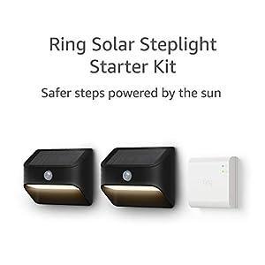 Ring Solar Steplight, Outdoor Motion-Sensor Security Light, Black (Starter Kit: 2-pack)