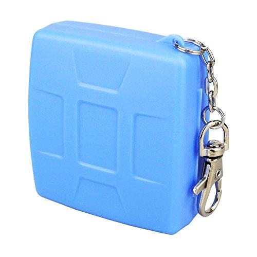 flashwoife Turtle-MSD8 Caja de protección de Tarjeta de Memoria Repelente al Polvo, Soporte Patentado, 8 Tarjetas MicroSD Estuche con Cadena Colgante, Azul Celeste