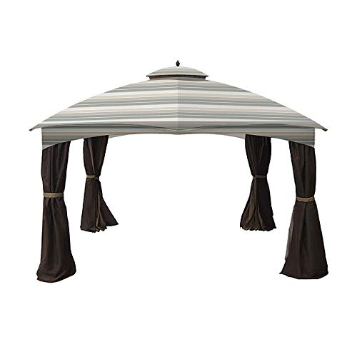 Garden Winds Replacement Canopy for Allen Roth 10x12 Gazebo - Standard 350 - Stripe Stone