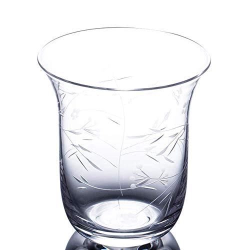 FSJIANGYUE Whisky Glass Cup Blume Gras Muster Wein Cocktail Handgemachte Wodka Tumbler Bar, klar (Color : Clear)