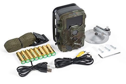 Technaxx Nature Wild Cam 8MP TX-125 Full HD bewakingscamera op batterijen voor binnen en buiten nachtzicht bewegingsmelder jachtcamera wilddierkamera voor bewaking