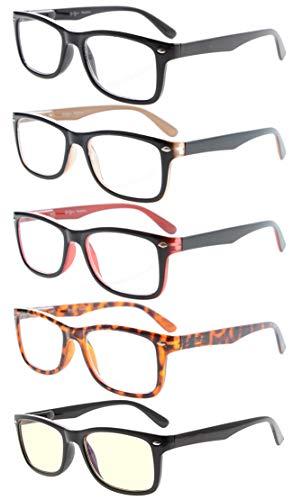 computer reading glasses walmarts Eyekepper 5-Pack Classic Reading Glasses Include Computer Reader Eyeglasses for Women Men Reading with Spring-Hinges +0.50
