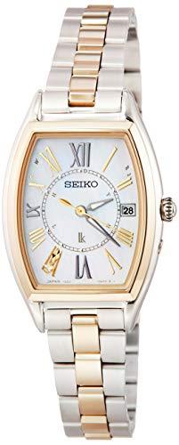 [セイコーウォッチ] 腕時計 ルキア LUKIA(ルキア) ソーラー電波 チタンモデル ダイヤモンド入り白蝶貝ダイヤル サファイアガラス SSQW052 レディース シルバー