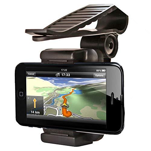 Universale Porta Cellulare per Auto in Silicone,MoreChioce 360 Ruotabile Porta Telefono per Auto con Visiera Parasole per Tutti i Dispositivi 35-99 mm compatibile con GPS iPhone 5s 6s Plus Galaxy S7