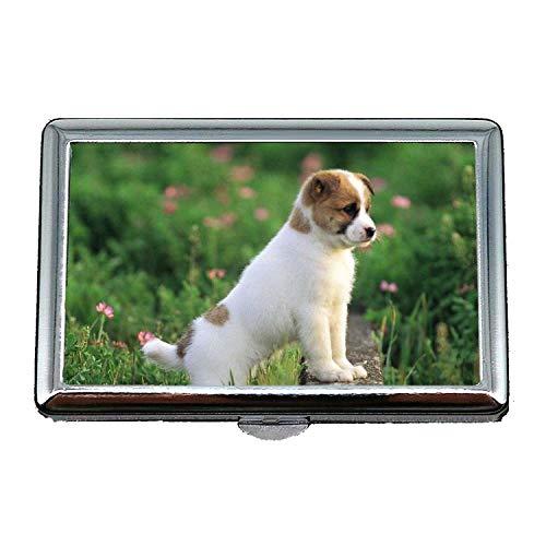 Cigarette Box Case Geschenke für Papa, Chihuahua Hund Hund Download, Edelstahl-Kartenhalter