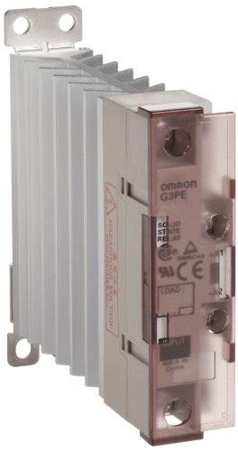 Omron G3PE-215B DC12-24 Solid State Relay for Heaters, Zero Cross Function, Yellow Indicator, Phototriac Coupler Isolation, Single-Phase, 15 A Rated Load Current, 100 to 240 VAC Rated Load Voltage, 12 to 24 VDC Input Voltage