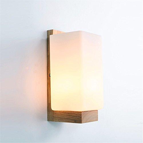 WEXLX Appliques en bois créatifs lampe murale pour Chambre Salon Diamètre du couloir de transport en commun haut11CM25cm