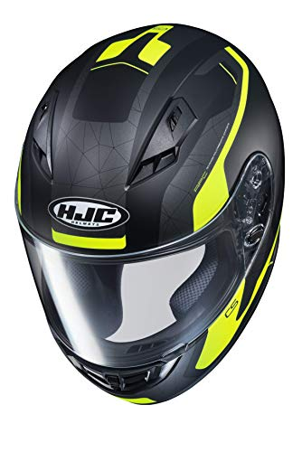 Casco moto HJC CS 15 DOSTA MC4HSF, Nero/Giallo, XS