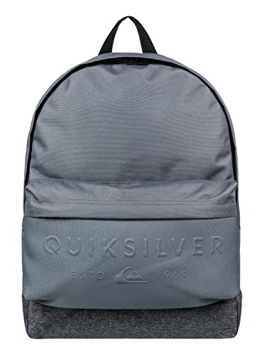 Quiksilver Everyday Poster Embossed Schulranzen, 42 cm, 25 liters, Grau (Iron Gate)