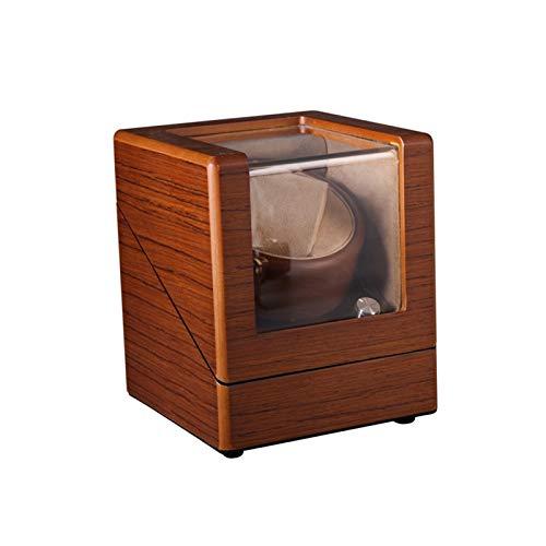 Cajón de almacenamiento para relojes y joyas, caja de relojes, 4 modos de rotación, aspecto de pintura mate de madera maciza, motor extremadamente silencioso
