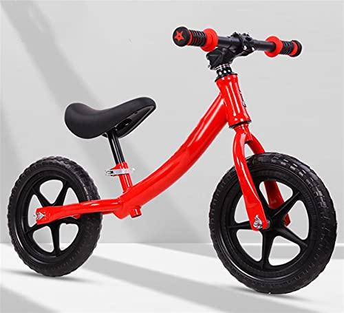 YQCH 12 '' Bicicleta de Equilibrio Ligero, Corriendo Bicicleta de Entrenamiento para niños, para niños pequeños Resistentes a la Espuma Antideslizante para niños (Color : Black)