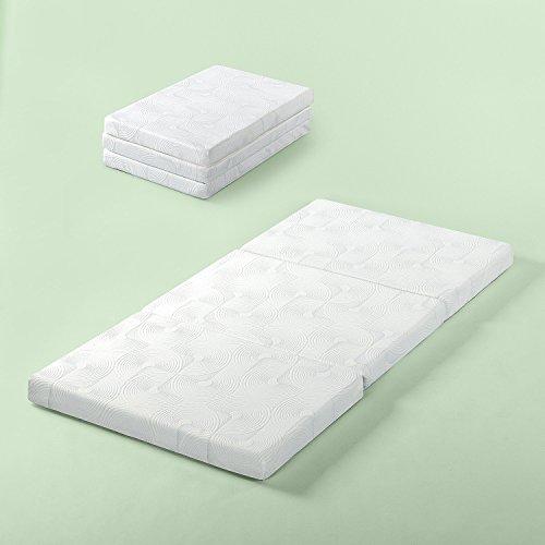 Zinus Gel Memory Foam 3 Inch Tri-Fold Comfort Portable Folding Floor Mat, Cot Size