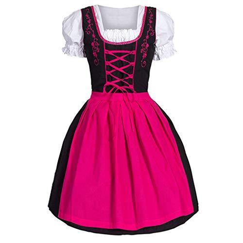 Covermason Damen Dirndl Kleid, Trachtenkleid Damen Midi Dirndlkleid Oktoberfest-Dirndl Trachtenmoden