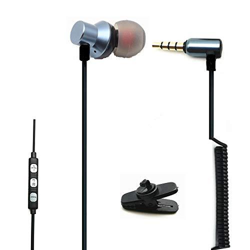 Auricular de un Solo Lado con micrófono, Auricular de un Solo oído Auriculares internos con Cable para iPhone, teléfonos Inteligentes, Android, Reproductores de MP3 (oído Derecho)