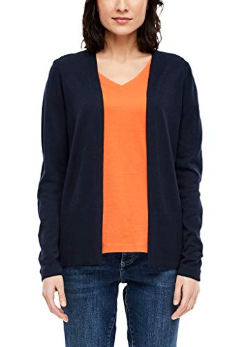 s.Oliver Damen Strickjacke in Unicolor navy 40