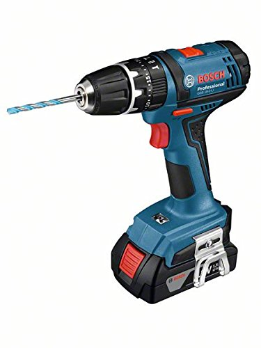 Bosch Professional GSB 18-2-LI Accu-slagboorschroevendraaier, 18 V, 2 x 1,5 Ah acculader, L-BOXX (maximaal Koppel: maximaal 39 Nm. Boorhouder: 10 mm max. Schroef-Ø: 7 mm)