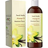 Massage Essential Oils for Sensual Massage - Enticing French Vanilla Body Massage Oil for Couples with Therapeutic Grade Sweet Almond Oil for Skin Jojoba and Coconut Body Oil for Skin Hydration