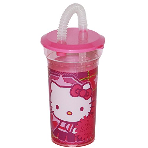 Hello KittyBecher mit Strohhalm