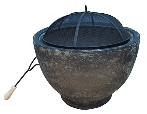 Gardeco brasilia-gt Granit Effekt Lack Brasilia Clay Fire Pit–grau