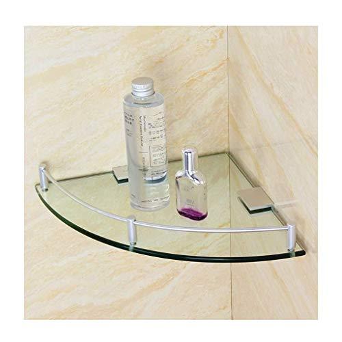 boaber Estante de Esquina para ba?o Carrito de Ducha montado en la Pared Cesta de Vidrio Templado Almacenamiento Triangular de 8 mm de Espesor, Cromo Pulido (Tama?o: 200 mm) (Color : 200mm)
