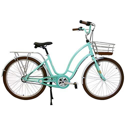 Bicicleta Retrô Vintage Antonella Aro 26 Verde Acqua