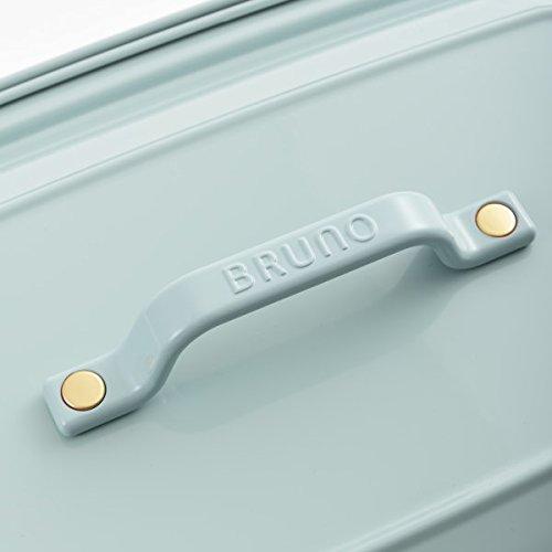 BRUNOブルーノホットプレートグランデサイズ本体プレート3種(たこ焼き平面セラミックコート仕切り鍋)レシピブック付きブルーグレーBlueGrayおすすめおしゃれかわいいこれ1台蓋ふた付き温度調節洗いやすい4人5人用大型大きいサイズ多人数ワイド幅約50㎝BOE026-BGY1700405