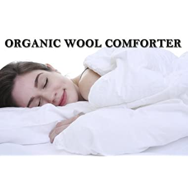 Organic Encased Premium Wool Comforter Washable King