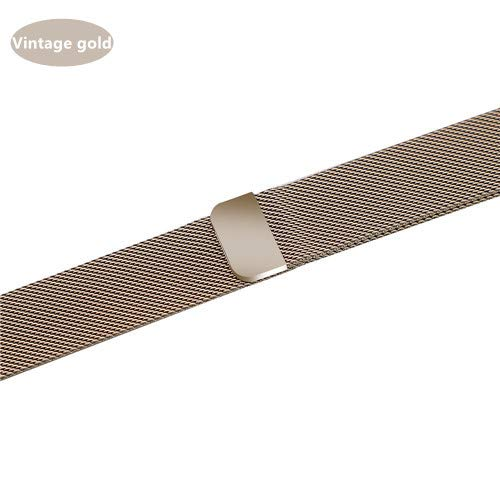 NO BRANDED Bands For Watch Strap Series 5 4 3 Milanese Loop Iwatch Band 44mm 40mm 42mm 38mm Stainless Steel Bracelet Vintagegold