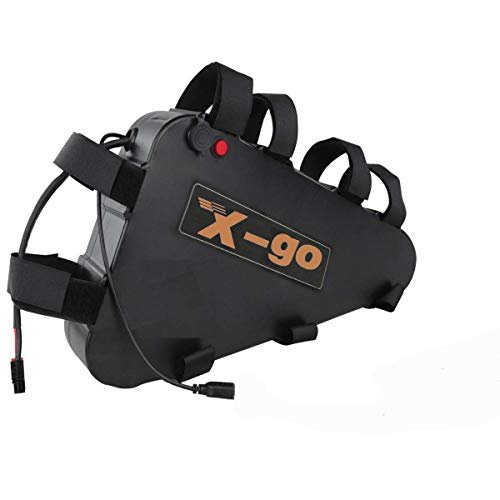 X-go 52V/48V/36V/24V batería para bicicleta de iones de litio con cargador, pantalla de energía, placa de protección BMS para motor de bicicleta 1500W/1000W/750W/500W