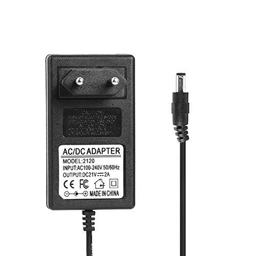 Adaptador de Fuente de Alimentación, Everpert 21V 2A 18650 Cargador de Batería de Litio DC5.5mm Adaptador de Corriente Cargador (UE)