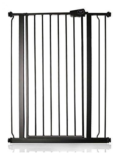 Safetots Enfant et Animal Barrière de Sécurité à Fixation par Pression extra haute Noire Mat 81.4cm -89cm