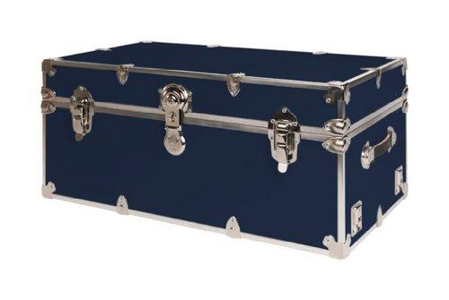 SecureOnCampus College Dorm Storage TrunksFootlockers Large - Navy Blue