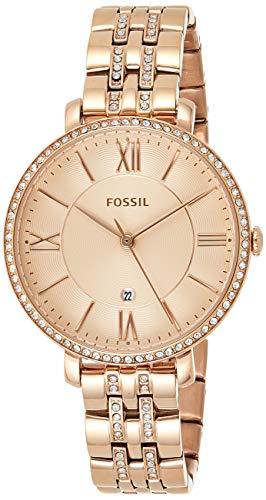 Fossil Damen Analog Quarz Uhr mit Edelstahl Armband ES3546